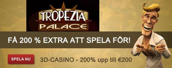 Tropezia Palace ger dig 200 kronor att spela för på stuberten